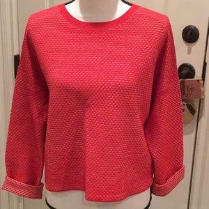 Theory Orange&White Sweater